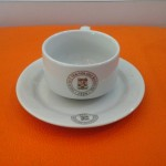 Cup and Souccer porcelain printing gold pure